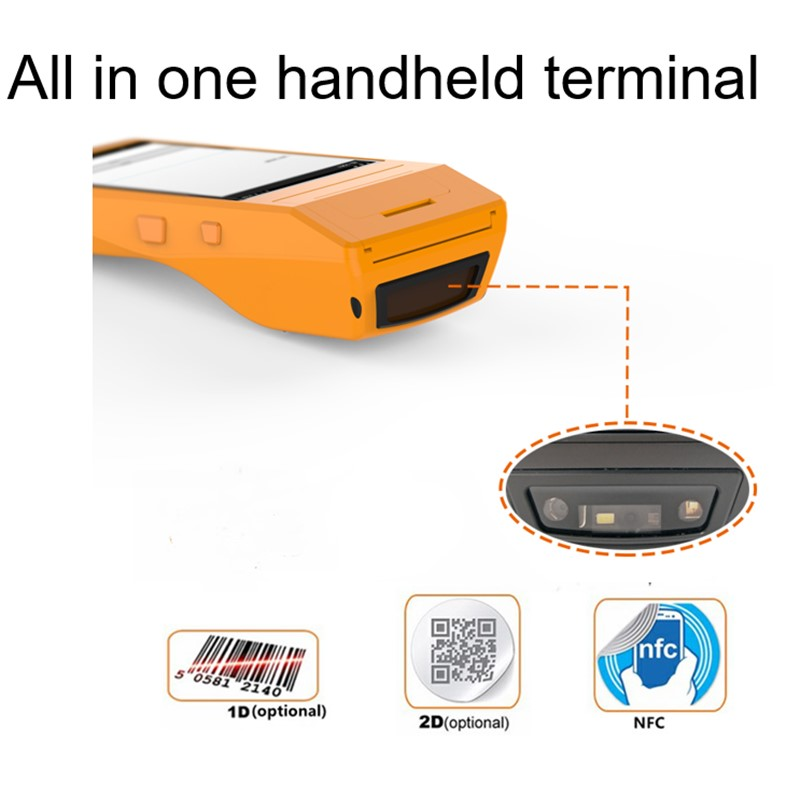 NFC POS Terminal Android 6.0 System Bluetooth Wifi all in one thermal receipt pos printer for retail