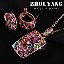S022 oro plateado joyería del pendiente del collar cristales austríacos italina noble elegancia