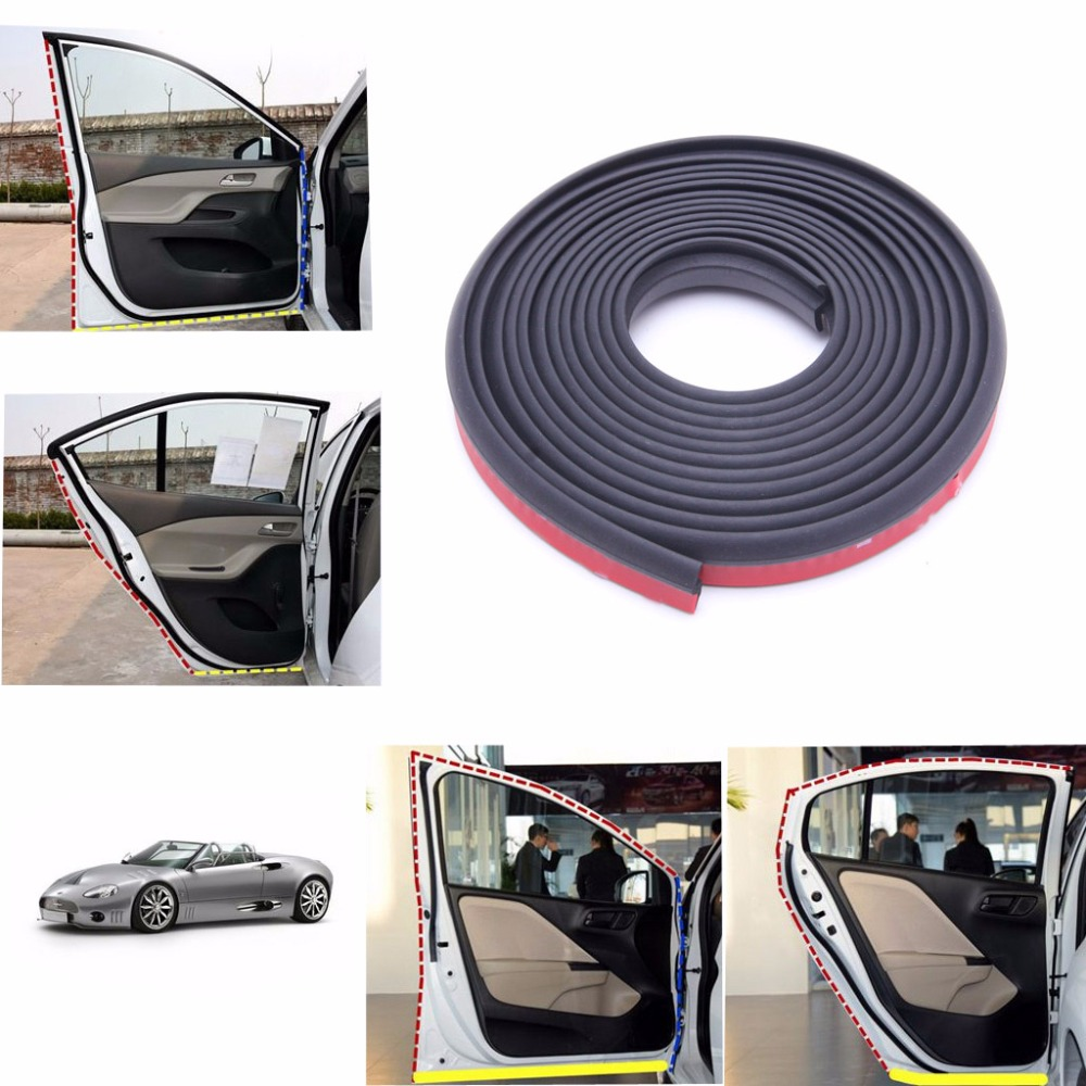 4m Z Shape Car Door Rubber Weather Seal Strip EPDM Noise Insulation Weatherstrip cawanerl car sealing strip kit weatherstrip rubber seal edging trim anti noise for nissan almera march micra note pixo platina