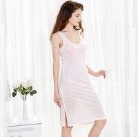 100% Silk Knit Stretchy Full Slip Sleepwear Nightdress Chemise Nightgown SG322