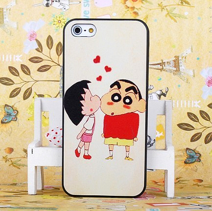 Cartoon embossed for apple for iphone for 5 5 lovers phone case shell protective case