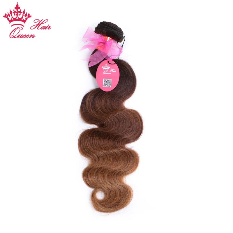 Queen Hair Products Ombre 3 Tone Color 2 6 27 Brazilian Hair Body Wave 100 Remy