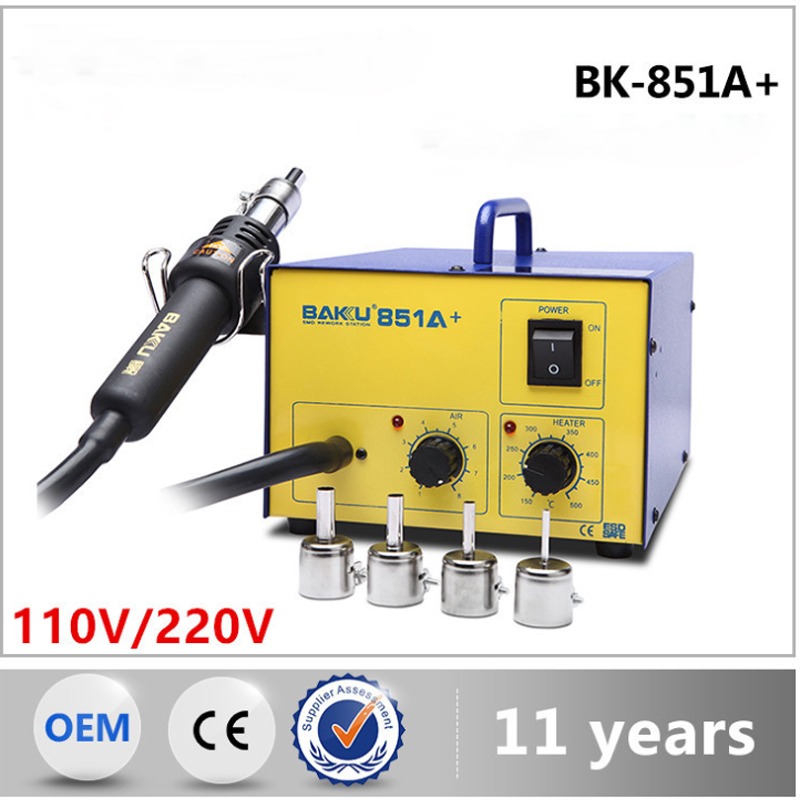 BK 851A hot air gun desoldering station temperature adjustment welding station in Electric Soldering Irons from Tools