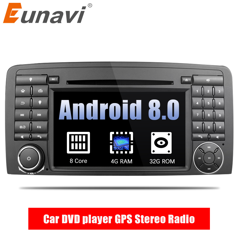 Eunavi Octa Core 2 din Android 8.0 Car DVD player GPS Radio Stereo per Mercedes Benz R Class W251 R280 r300 R320 R350 con wifi