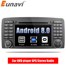 Eunavi Octa Core 2 din Android 8.0 Car DVD player GPS Stereo Radio for Mercedes Benz R Class W251 R280 R300 R320 R350 with wifi