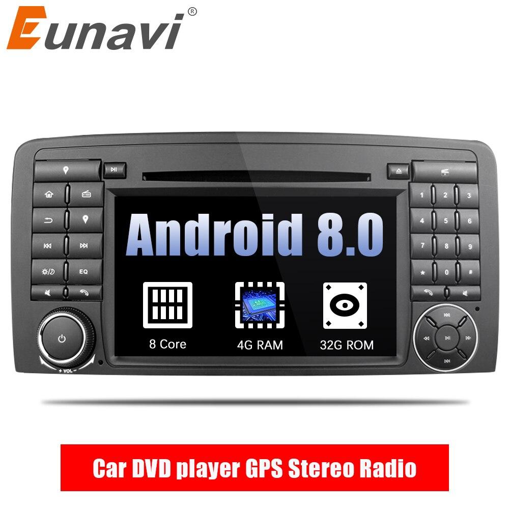 Eunavi Octa Core 2 din Android 8.0 Voiture lecteur DVD GPS Stéréo Radio pour Mercedes Benz R Classe W251 R280 r300 R320 R350 avec wifi