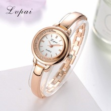 Lvpai Brand Luxury Rose Gold Dress Quartz Watches Women Fashion Bracelet Watch Casual Ladies Crystal Wristwatches Sport Clock