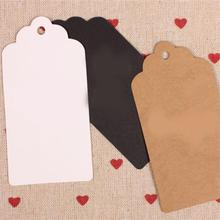 Specially Papular New Fashion 50Pcs/set Blank Craft Paper Hang Tags For Wedding Birthday Party Favor Label Gift Paper Cards