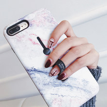 For iphone 6 6s 7 8 Plus X Marble Flower Flamingo Soft silicon Ring Phone Case For iphone 6 Case Hide Stand Holder Cover(China)