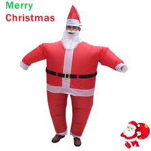 Inflatable Christmas Costume Santa Claus Fancy Dress for Men Women Adult Suit Airblown Cosplay Party Bar Play Outfits