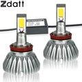 2 Unids H11 LED Faro Lámpara Auto 60 W 6000LM Coche LED Automóviles luces 6000 K Blanco luz de Niebla Universal 12 V H8 led DRL