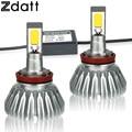 2Pcs H11 LED Headlight Auto Lamp 60W 6000LM Car LED Lights 6000K White Automobiles Fog light Universal 12V H8 led DRL