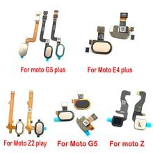 10 pcs/lot New Home Button FingerPrint Touch ID Sensor Flex Cable Ribbon For Motorola Moto E4 E5 G4 G5 Plus Replacement Parts