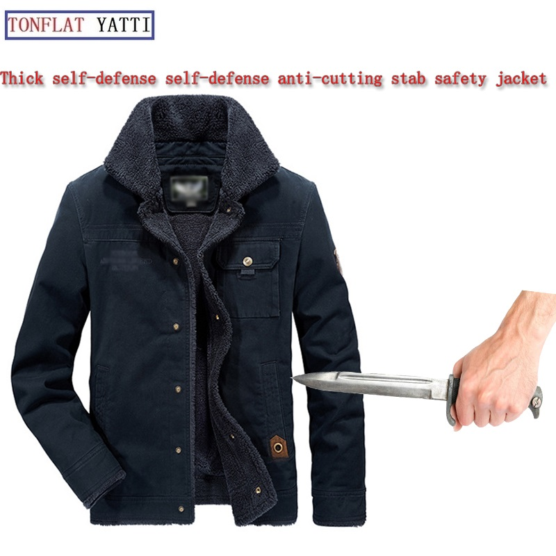 Jackets Hard-Working Self Defense Anti-cut Jacket Men Anti Stab Clothing Anti-sharp Cut Resistant Outfit Stealth Cutfree Stabfree Soft Jackets Coat