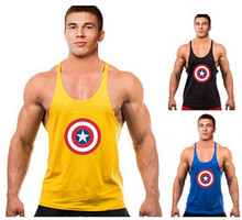 Fitness Tank Tops Superman gyms clothing Sleeveless Mens Bodybuilding Fitness Mens o-neck cotton Stringer golds gyms Tank Top