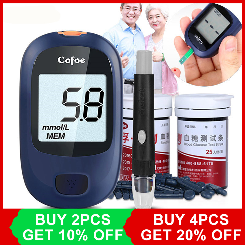 Cofoe Yice Glucometer/Glucose Meter/Blood Glucose Monitoring System with 50 test strips &lancets for Testing Blood Sugar LevelCofoe Yice Glucometer/Glucose Meter/Blood Glucose Monitoring System with 50 test strips &lancets for Testing Blood Sugar Level