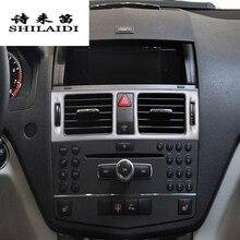 Стайлинга автомобилей AC спереди отделка воздуха на выходе рамка украшения наклейки обложки для Mercedes Benz C class W204 интерьер авто аксессуары