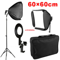 100 New High Quality Softbox For Speed Light Flash 60cm 24 Flash Speedlite Soft Box 60x60cm