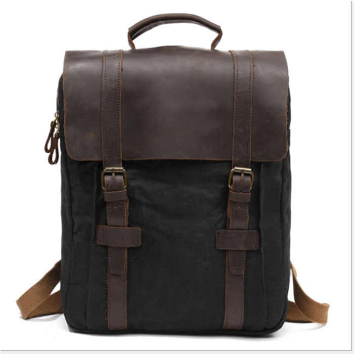 Ноутбук серый Рюкзак мужской бизнес винтажный холст черный рюкзак цвета хаки для мужчин Mochila модные рюкзаки для путешествий школьные сумки серый
