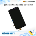 Piezas de alta calidad para lg k4 lte k120ar k120e k121 pantalla lcd con pantalla táctil asamblea K130E 1 unids envío gratis