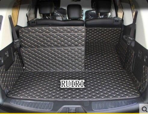 Freies verschiffen! spezielle kofferraum-matten für Nissan Patrol Y62 7 sitze 2018-2011 wasserdicht boot teppiche cargo-liner für Patrol 2016