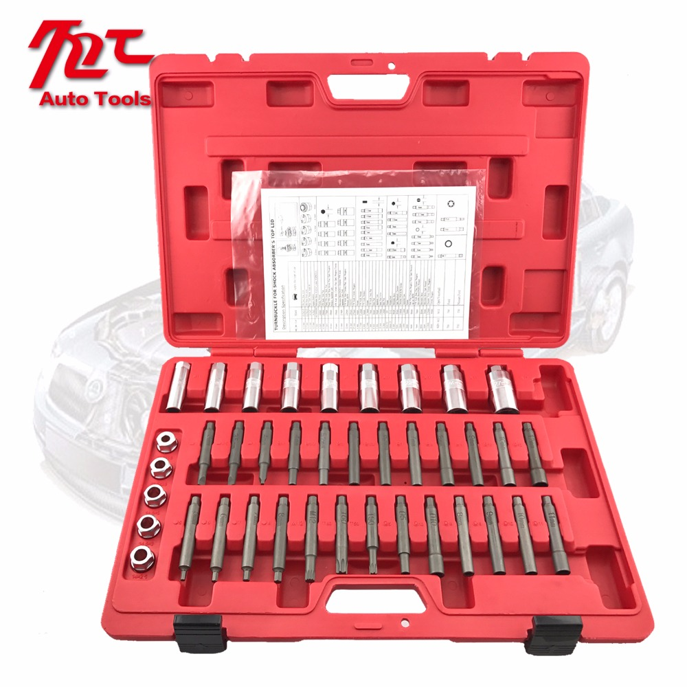 39pcs Turnbuckle Service Kit Universal Shock Absorber Strut Nut Socket Tool Kit