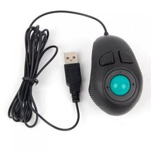 Portable Finger Hand Held 4D Usb Mini Trackball Mouse