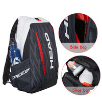 Head Tennis Bag 2017 Djokovic Double Shoulder Backpack Outdoor Sports raquete de tenis For 2~3 Rackets Adults Men