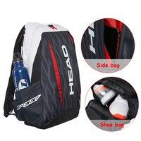 Head Tennis Bag 2017 Djokovic Double Shoulder Backpack Outdoor Sports raquete de tenis For 2~3 Rackets Adults Men