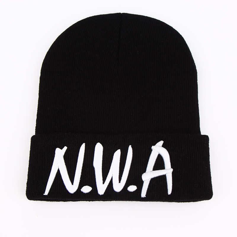 ed473435019 ... VORON New skullies beanies Gangsta NWA knitted winter hats hat female  cap VOGUE women men hip ...