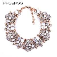 New Women Fashion Jewelry Luxury Z Brand Short Design Crystal Statement Necklace Bijoux Lady Chokers Bib