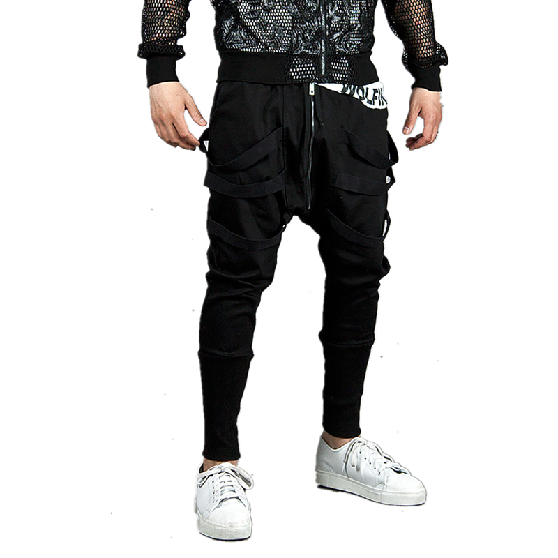 Sweatpants Streetwear Trousers Men Black Joggers Hip-Hop Cotton High-Quality Fashion