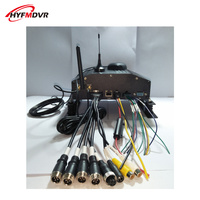 3G mdvr 4 channel GPS WiFi video surveillance host coaxial on board video recorder hard disk type aviation head equipment