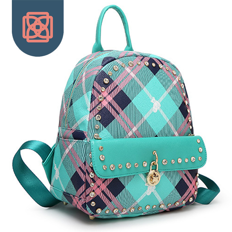 diamante cravejado mochila doce cor Color : Macarons