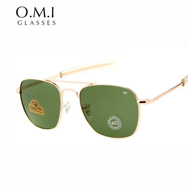 db9f4d499292b Marca new exército militar ao optical aviador óculos de sol dos homens  americanos lente 12 K