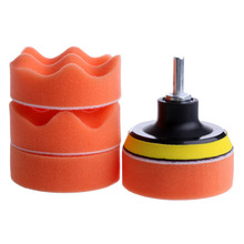 Mayitr New 7Pcs 3 inch Car Buffing Pad Polishing Sponge Foam Wheel Kit + M14 Drill Adapter Wool Blended for Buffer