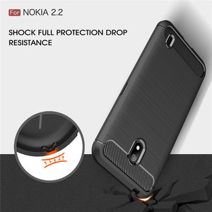 Image 5 - Silicone Case For Nokia 2.2 2 For Nokia 2.1 2V ShockProof Fitted Carbon Fiber TPU Phone Cover For Nokia 2.2 Case