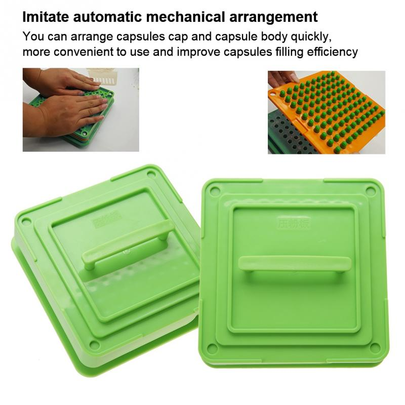 2 Types 100 Holes Manual Hand Capsule Filler Size 0# 00# Empty Filling Machine With Powder Spreader Plates Capsules Filling Tool