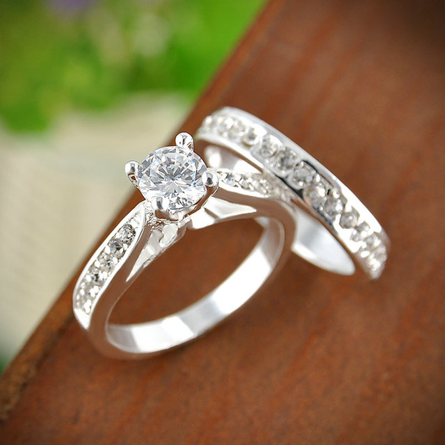 2 Pcs Engagement Rings