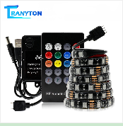 USB LED Strip 5050 RGB Changeable 5V Waterproof / No Waterproof 0.5m 1m 2m with USB Controller Set DIY TV Decoration LED Light.