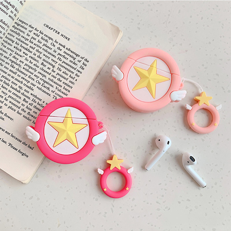 Image 5 - Sailor Moon Transformer For Airpods Case Cute Silicone Bluetooth Earphone Protective Cover Capa Cartoon for Air pods Key Strap-in Earphone Accessories from Consumer Electronics