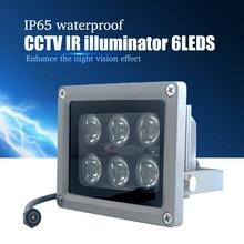 YiiSPO CCTV Array IR illuminator infrared lamp 6pcs Array Led IR Outdoor IP65 Waterproof Night Vision for CCTV Camera
