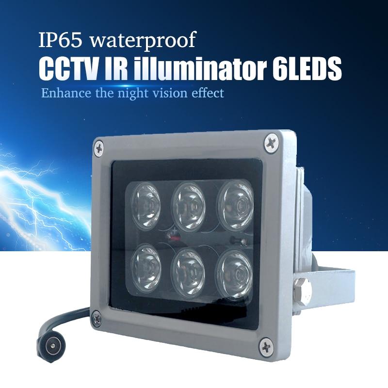 YiiSPO CCTV Array IR iluminador infrarrojo lámpara 6 piezas Array Led IR al aire libre IP65 impermeable visión nocturna para cámara CCTV