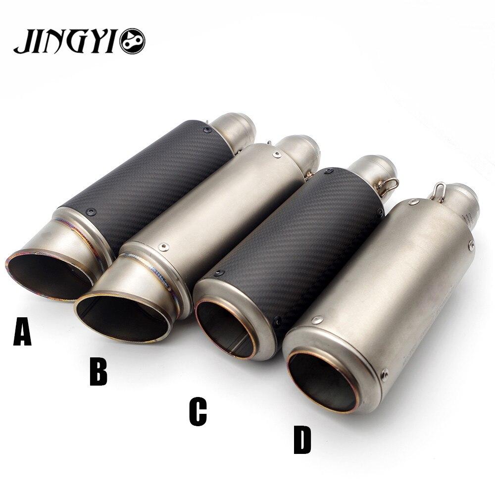 51/61mm Universal Stainless Steel Motorcycle Exhaust Pipe Muffler loud tubo de escape moto Slip On FOR YAMAHA FZ-1N FZ-6N YZF-R1