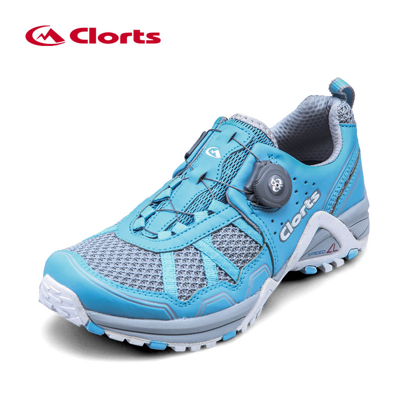 2017 Clorts Womens Trail Running Shoes BOA Fast Lacing Lightweight Sport Shoes Mesh Upper For Women Free Shipping 3F013B/F/G  2017 clorts men running shoes boa fast lacing lightweight outdoor sport shoes breathable mesh upper for men free shipping 3f013b