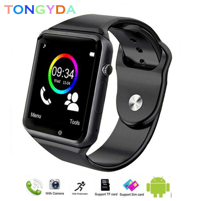 Smart Watch Men A1 Waterproof Android Watch SIM Card TF Sport Bluetooth Smartwatch Android Waterproof with Camera Outdoor Watch