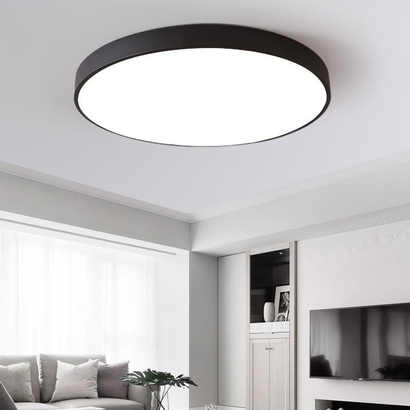 Jednostavna moderna svjetlosno okrugla strop dnevna soba blagovaonica - Unutarnja rasvjeta - Foto 4