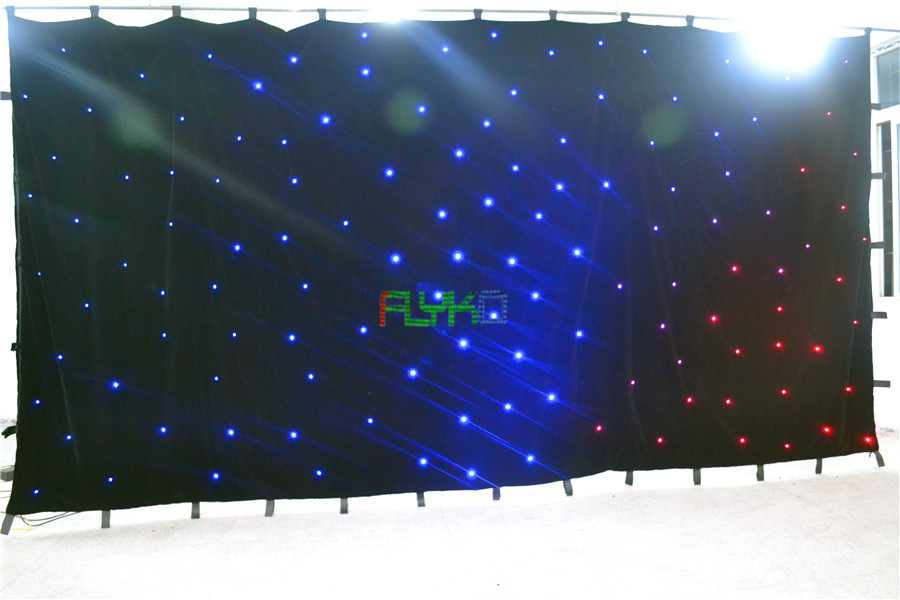 chrismas usage led star curtain 3x6m free shipping ...