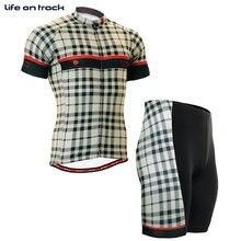 Жизнь в нужное русло Велоспорт устанавливает велосипед Одежда для мужчин дышащий фитнес с коротким рукавом