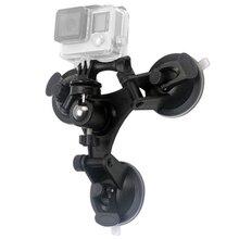 Низкий угол Съемный присоске Штатив для GoPro Hero 5 3 3 + 4 сеанса ксиоми Yi 4 К SJCAM SJ4000 с шаровой головкой присоски